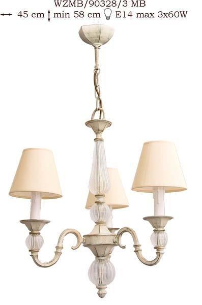 Żyrandol mosiężny JBT Stylowe Lampy WZMB/90328/3MB