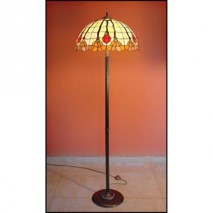 Lampa witrażowa podłogowa stojąca AKSAMIT