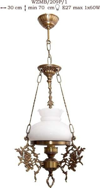 Żyrandol mosiężny JBT Stylowe Lampy WZMB/209P/1