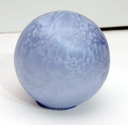 Klosz szklany kulka 12cm lampa żyrandol