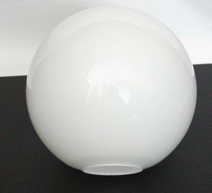 Klosz szklany KULA 25cm otw.montażowy 8cm- klosze do lamp