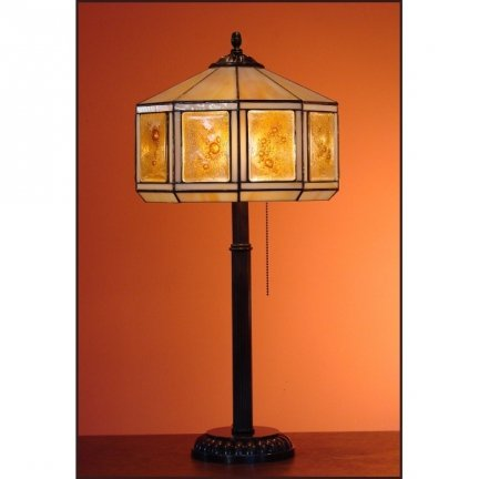 Lampka witrażowa lampa nocna biurkowa  MIÓD H-48cm