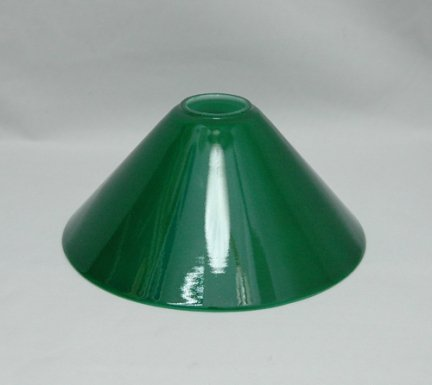 Klosz szklany zielony stożek E27