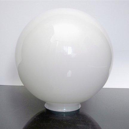 Klosz szklany kula 25 cm z kołnierzem 10 cm
