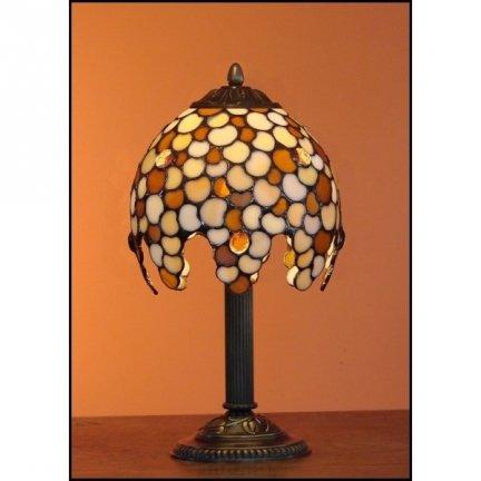 Lampka witrażowa nocna biurkowa KROPLA H-34 cm