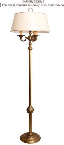 Lampa podłogowa mosiężna,lampa stojąca mosiężna
