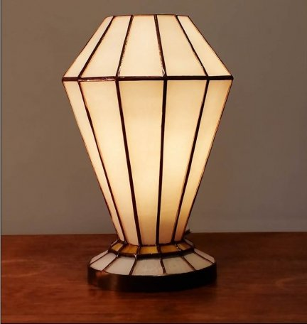 Lampka witrażowa lampa nocna biurkowa ARTDEC H-26cm