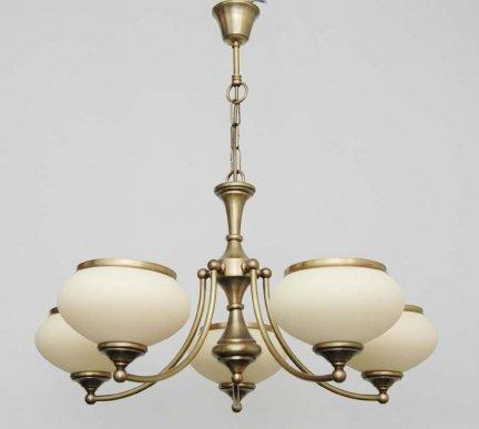 Żyrandol mosiężny, lampa wisząca mosiężna