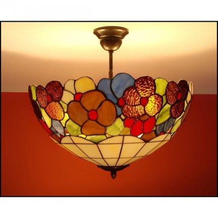 Plafon lampa żyrandol witraż WIOSNA 40cm