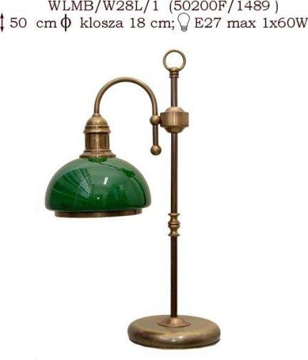 Lampka mosiężna JBT Stylowe Lampy WLMB/W28L/1(50200)