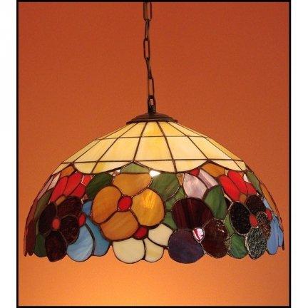 Lampa żyrandol zwis witraż WIOSNA 40cm