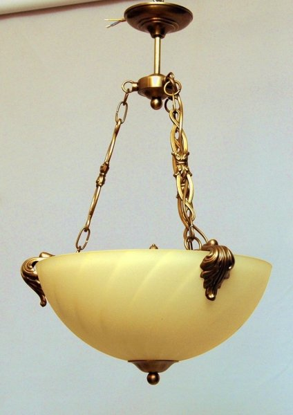 Żyrandol mosiężny JBT Stylowe Lampy WZMB/W12/3