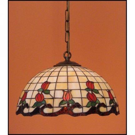 Lampa żyrandol zwis witraż ROSA 30cm