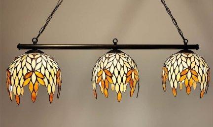 Lampa żyrandol zwis witraż Niagara 60cm