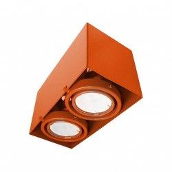 LAMPA SUFITOWA  BLOCCO POMARAŃCZOWA 2x7W GU10 LED Milagro