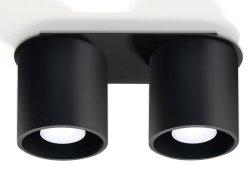 Plafon ORBIS 2 czarny  SL.0054 Sollux