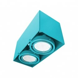 LAMPA SUFITOWA BLOCCO TURKUS 2x7W GU10 LED Milagro