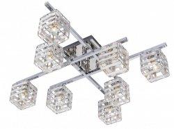 Cube - plafon 8 płomienny chrom 608808-06