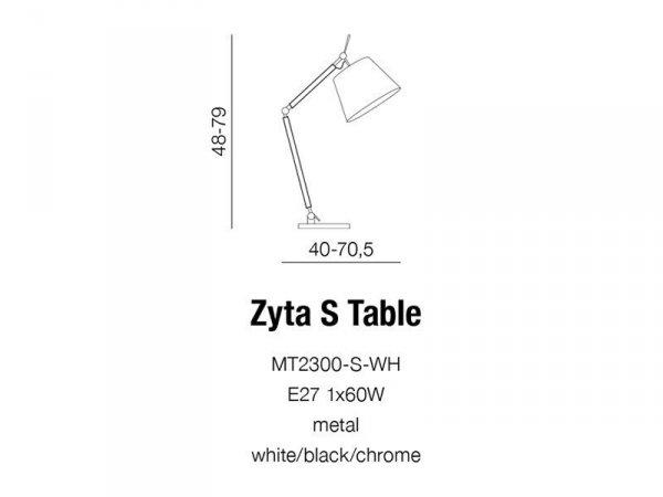 Lampka biurkowa ZYTA S TABLE WHITE MT2300-S WH
