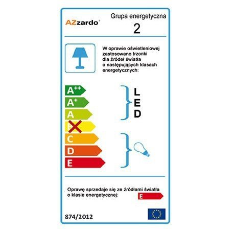 Plafon LUVIA 80 AZzardo 2172-6X-D80