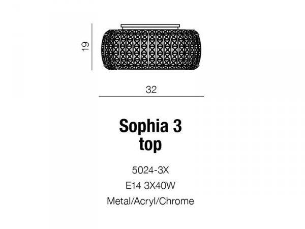 Plafon Sophia 3 Top AZzardo 5024-3X