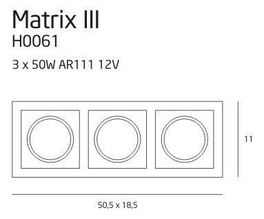 Matrix III WH oprawa halogenowa H0061