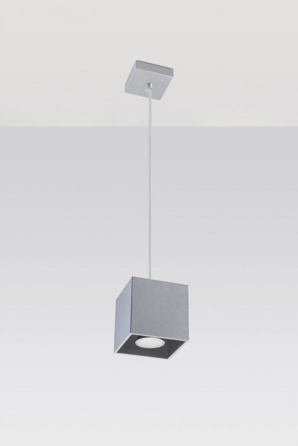 Lamp wisząca QUAD 1 Szary SL.0061 Sollux