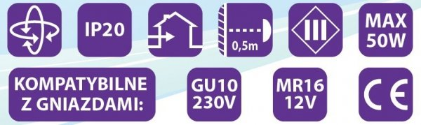 Oprawa halogenowa sufitowa ONYKS kwadrat ruchoma BS Mosiądz LUX01280