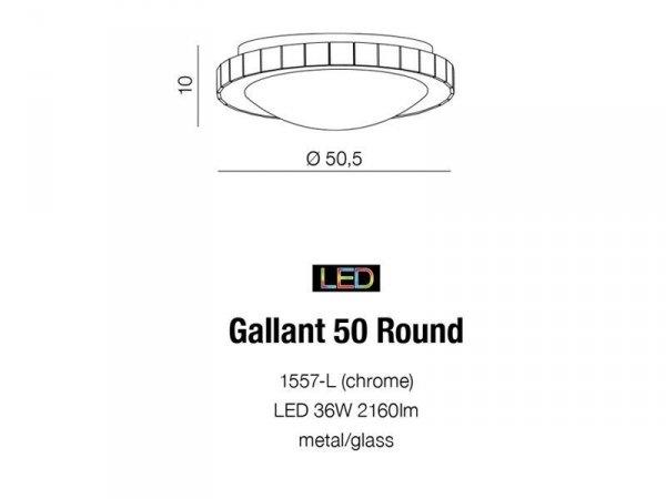 Plafon GALLANT 50 ROUND AZzardo 1557-L