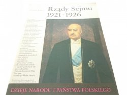 DNiPP: RZĄDY SEJMU 1921-1926 - Tomasz Nałęcz