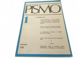 PISMO 1 MARZEC 1981