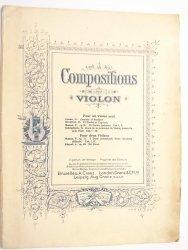 COMPOSITIONS POUR VIOLON
