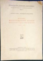 HANDEL MIĘDZYNARODOWY PAŃSTW REGIONU BAŁTYCKIEGO 1929-1935