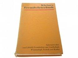 KLEINES FREMDWORTERBUCH