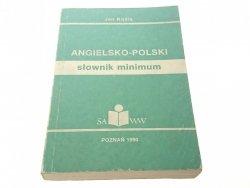 SŁOWNIK MINIMUM. ANGIELSKO-POLSKI - Jan Kośla 1990