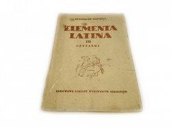 ELEMENTA LATINA CZĘŚĆ III CZYTANKI - Skimina 1953