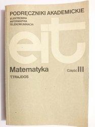 MATEMATYKA CZĘŚĆ III - Tadeusz Trajdos 1981