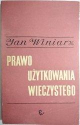 PRAWO UŻYTKOWANIA WIECZYSTEGO - Winiarz 1970