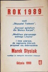 ROK 1989 MAREK STYSIAK
