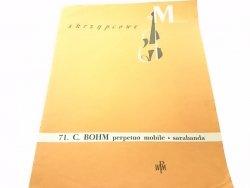 SKRZYPCOWE MINIATURY 71. C. BOHM PERPETUO MOBILE SARABANDA