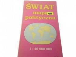 ŚWIAT MAPA POLITYCZNA 1:40 000 000 1996