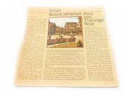 ERFURT BEZIRK ZWISCHEN HARZ UND THURINGER WALD