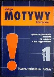 ŚCIĄGA MOTYWY LITERACKIE CZĘŚĆ 1 - Dorota Stopka