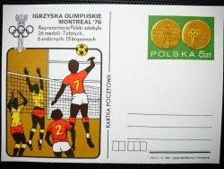KARTKA POCZTOWA. IGRZYSKA OLIMPIJSKIE MOTREAL '76