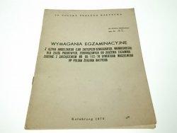 WYMAGANIA EGZAMINACYJNE Z JĘZYKA ANGIELSKIEGO 1978