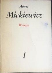 DZIEŁA POETYCKIE TOM 1 WIERSZE - ADAM MICKIEWICZ