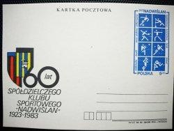 KARTKA POCZTOWA. 60 LAT SPÓŁDZIELCZEGO KLUBU SPORTOWEGO NADWIŚLAN 1923-1983