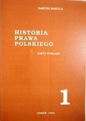 HISTORIA PRAWA POLSKIEGO. ZARYS WYKŁADU CZĘŚĆ 1