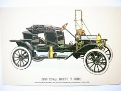 1910 20 h. p. MODEL T FORD - REPRODUCTIONS