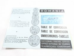 ROMANIA. TABLE OF CONVERSION